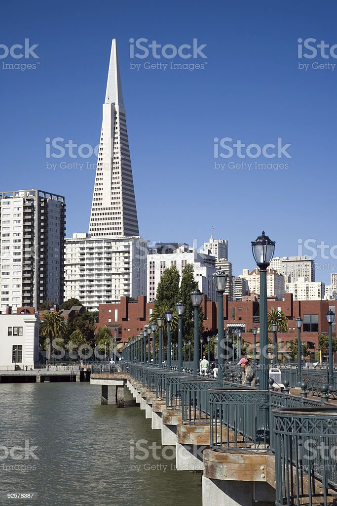 Transamerica Pyramid with Pier - Vertical royalty-free stock photo