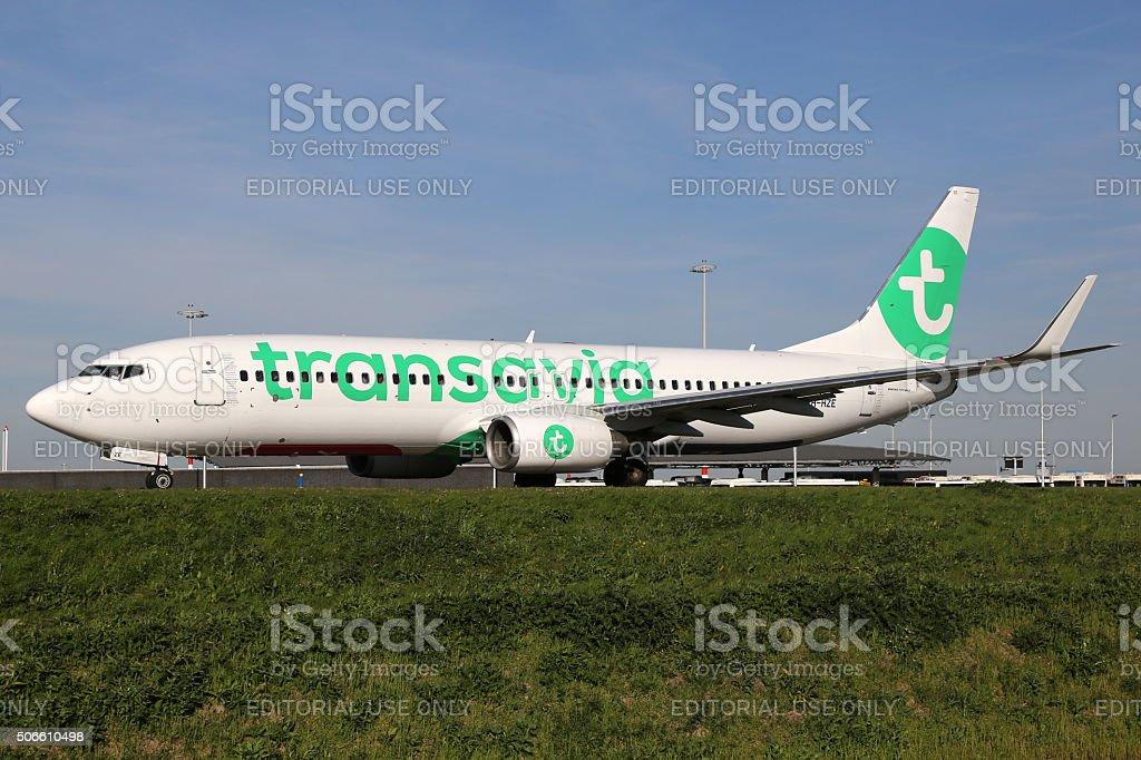 Transavia Boeing 737-800 airplane stock photo