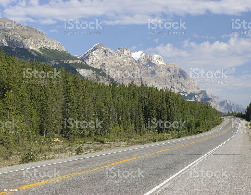 Transcanada Highway, Canadian Rockies stock photo