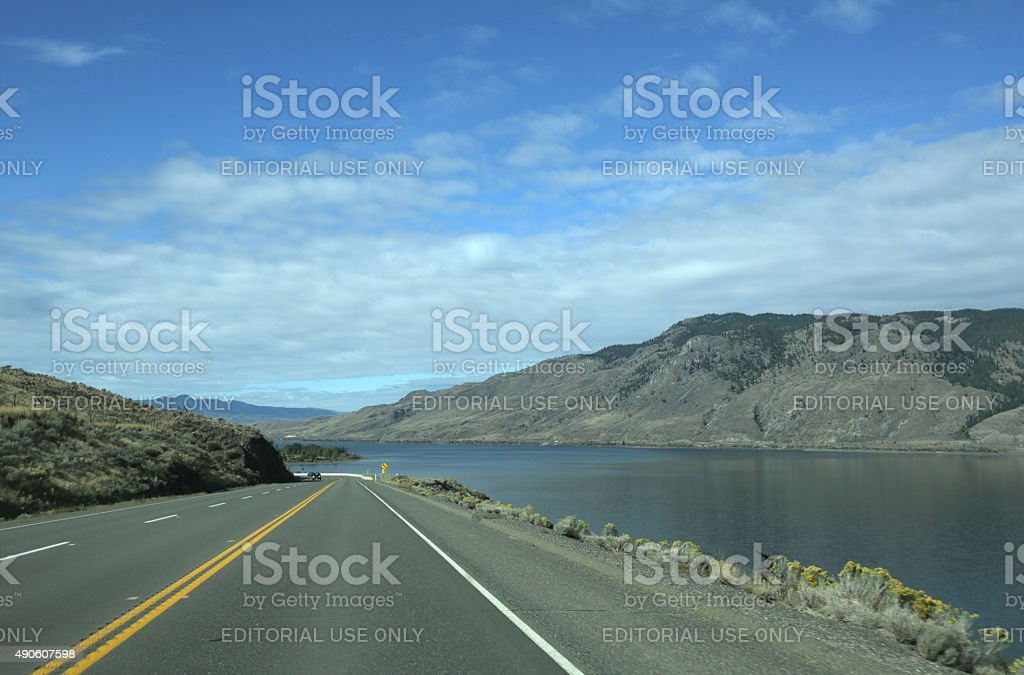 Trans-Canada Highway in the Thompson-Nicola Regional District stock photo