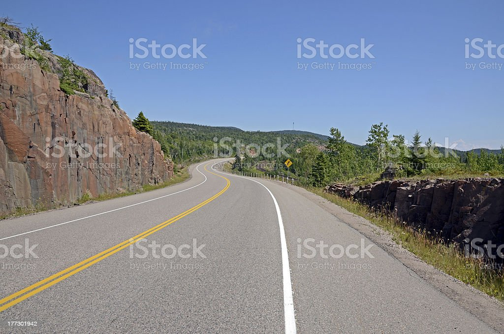 TransCanada highway stock photo