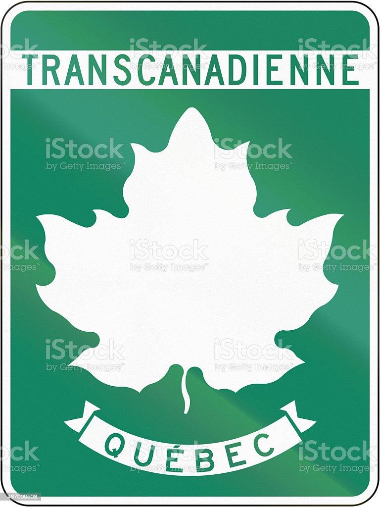 Transcanadienne in Quebec stock photo