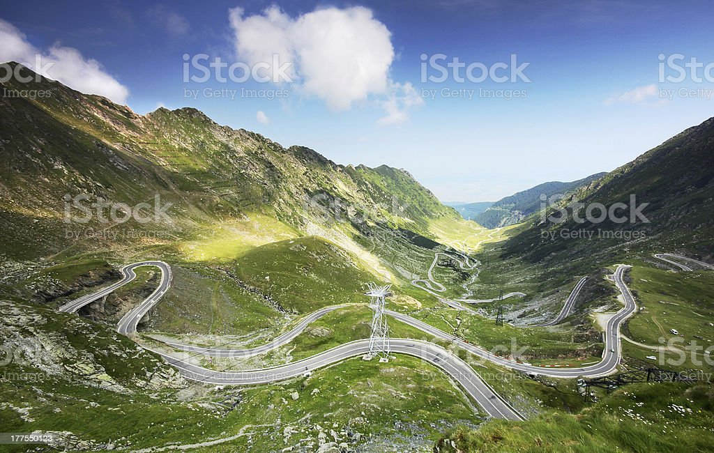 Transfagarasan highway - one of Ceausescu's landmarks from Romania royalty-free stock photo