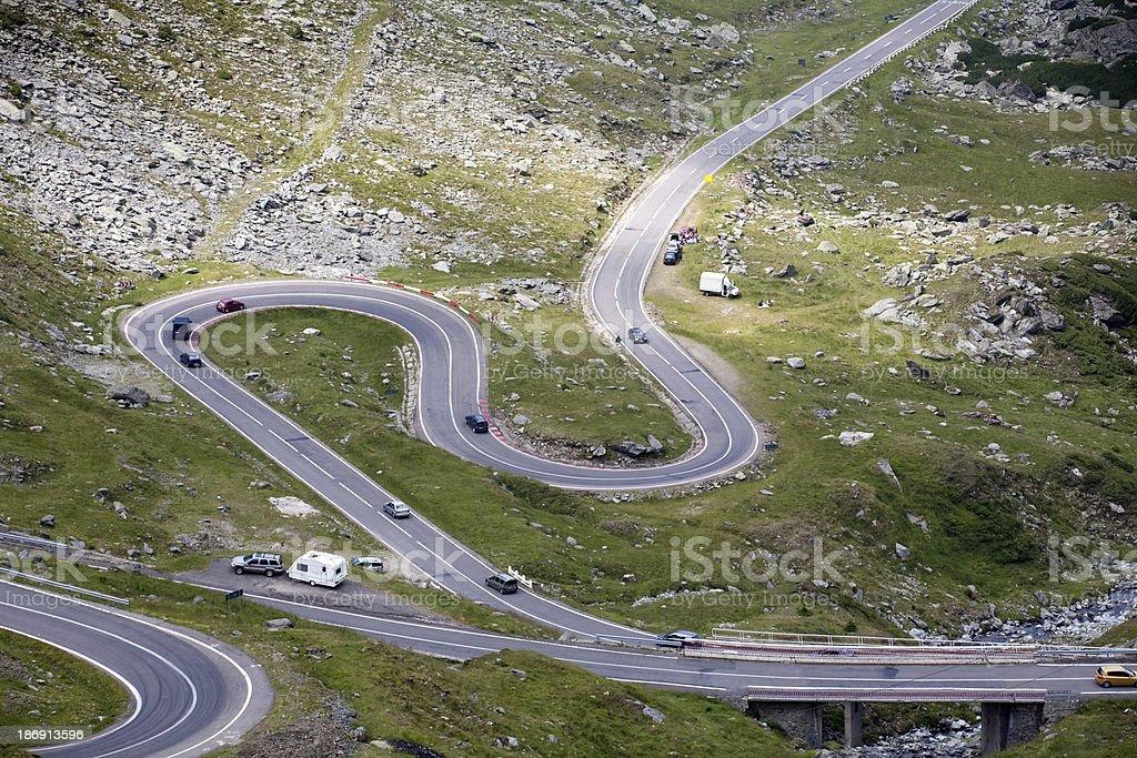 Transfagarasan highway, Romania royalty-free stock photo