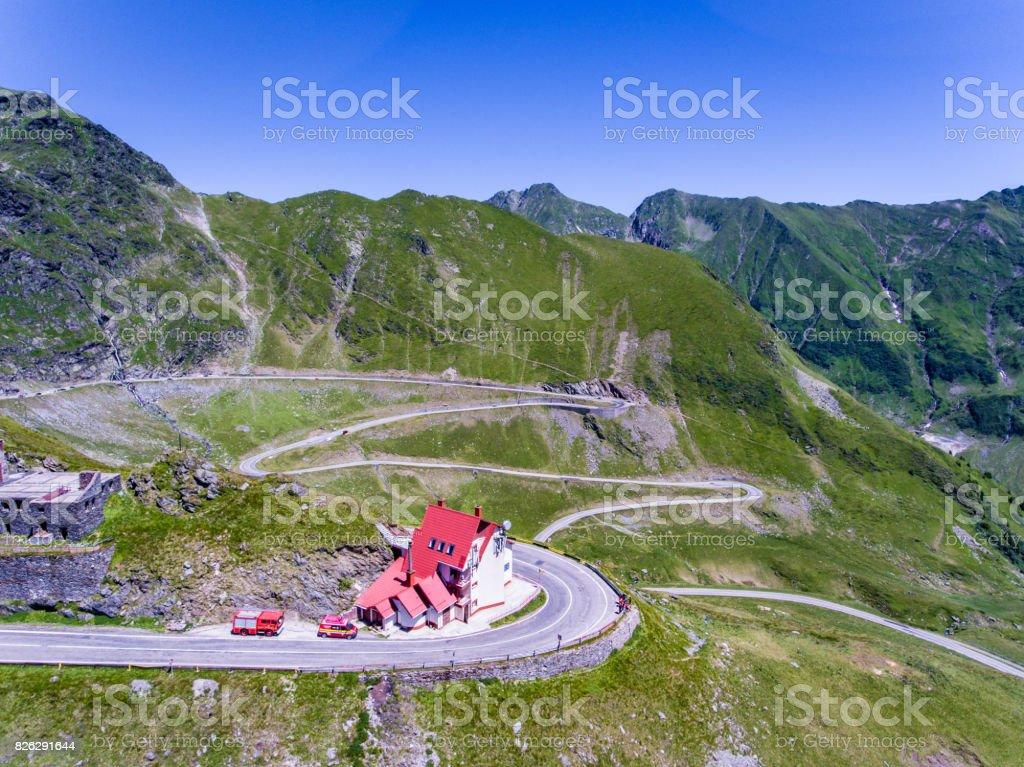 Transfagarasan mountain road in the Carpathians stock photo