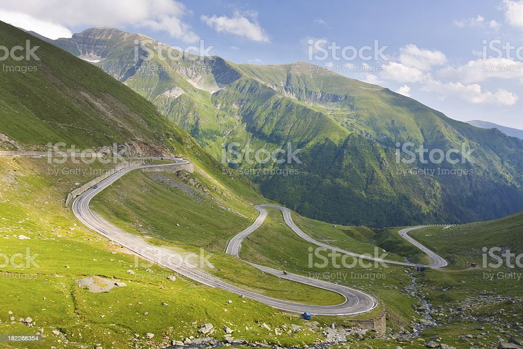 Transfagarasan mountain road, Romanian Carpathians royalty-free stock photo