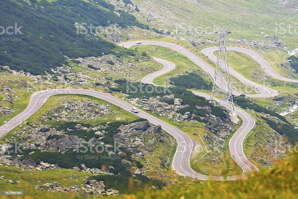Transfagarasan mountain road, Romanian Carpathians royalty-free stock photo