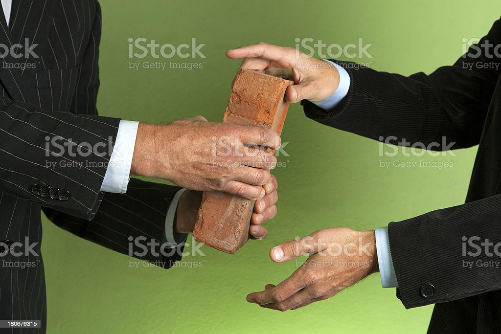Transfer of bricks royalty-free stock photo