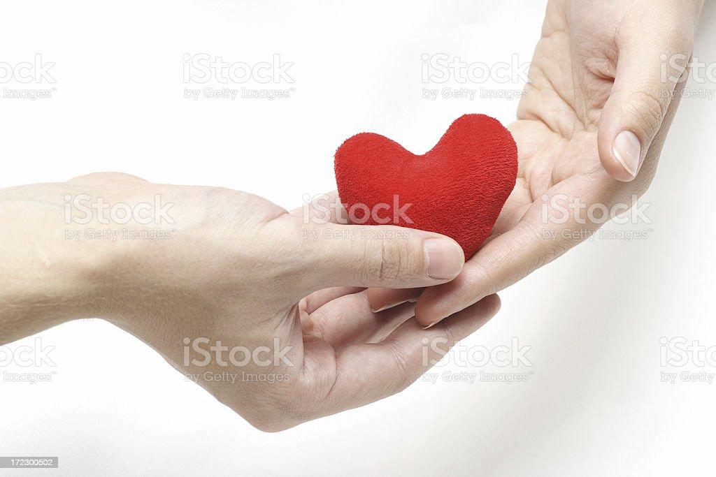 Transfer of heart stock photo