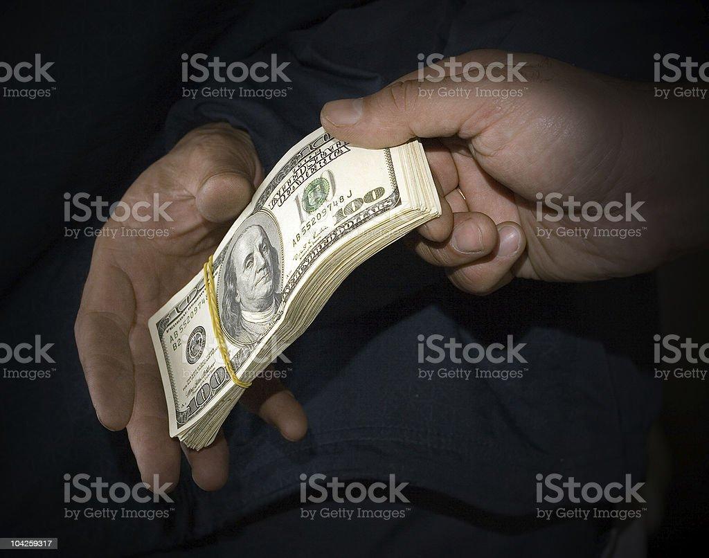 Transfer of money royalty-free stock photo