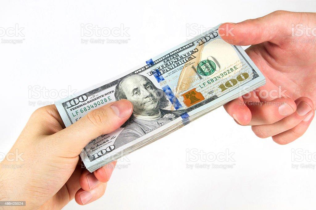 Transfer of Money stock photo