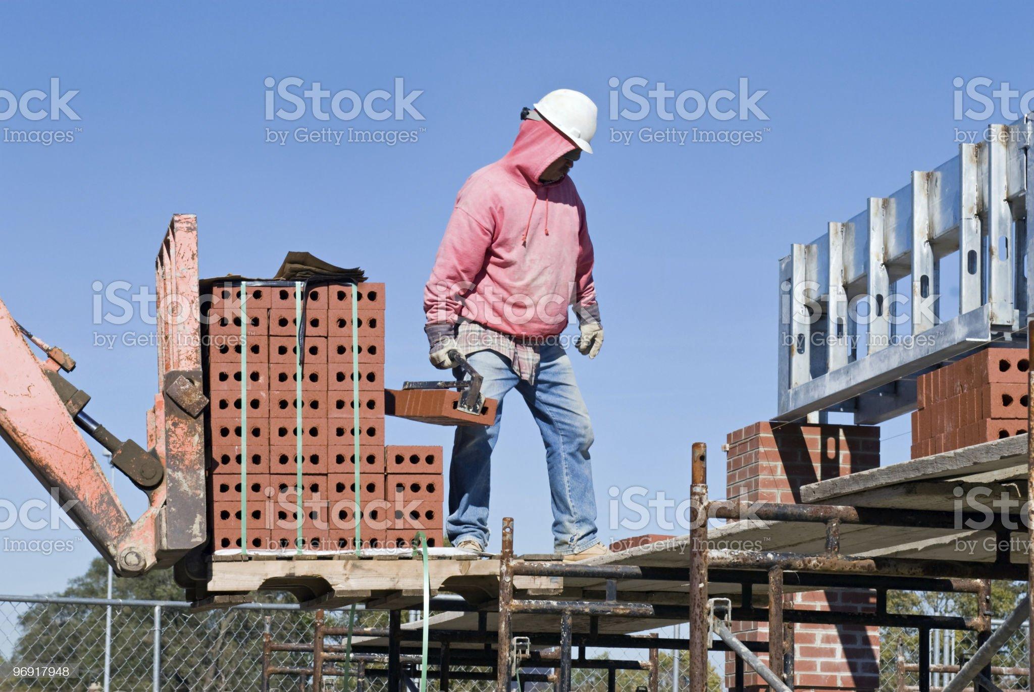 Transferring Brick royalty-free stock photo