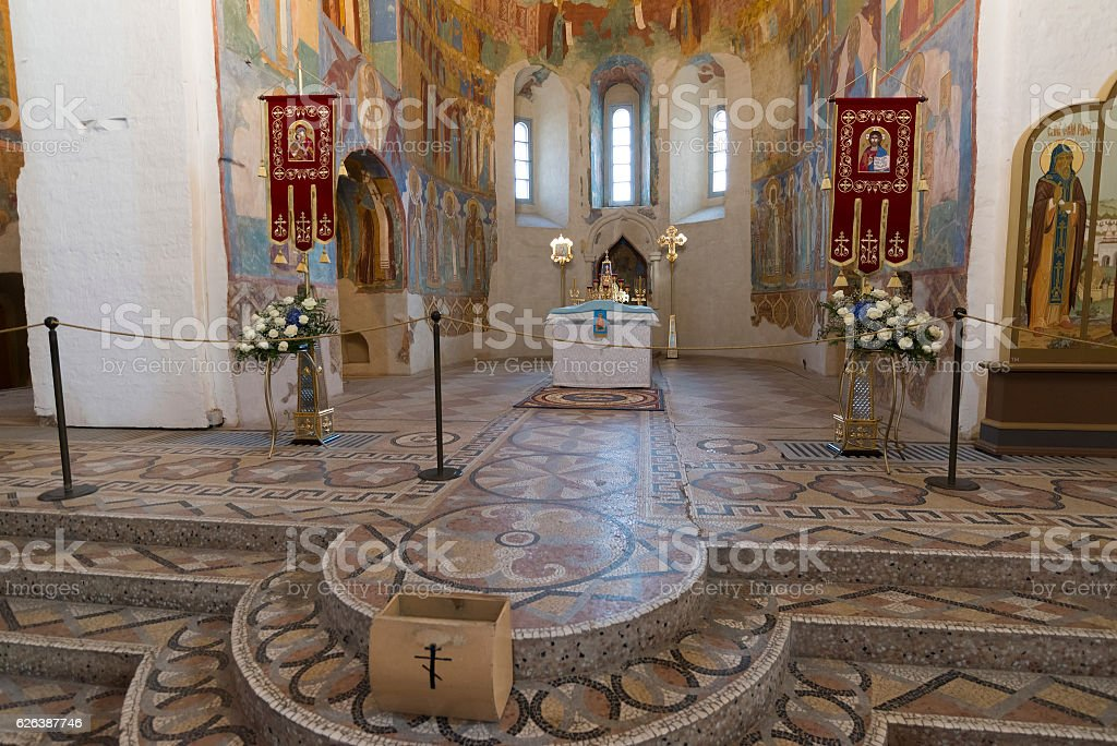 Transfiguration Cathedral built in the 16th century at  Suzdal. Russia stock photo