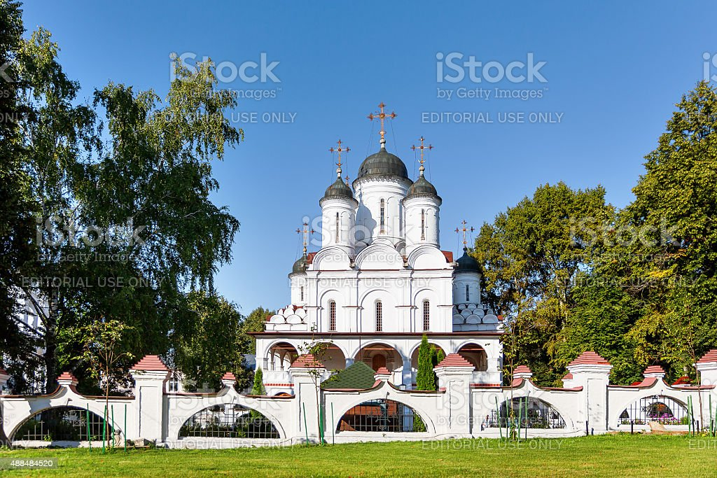 Transfiguration Cathedral in Bolshie Vyazyomy Manor, estate of princes Golitsyn. stock photo