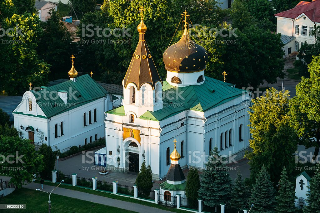 Transfiguration Cathedral in Monastery of Saint Euthymius in Suz stock photo