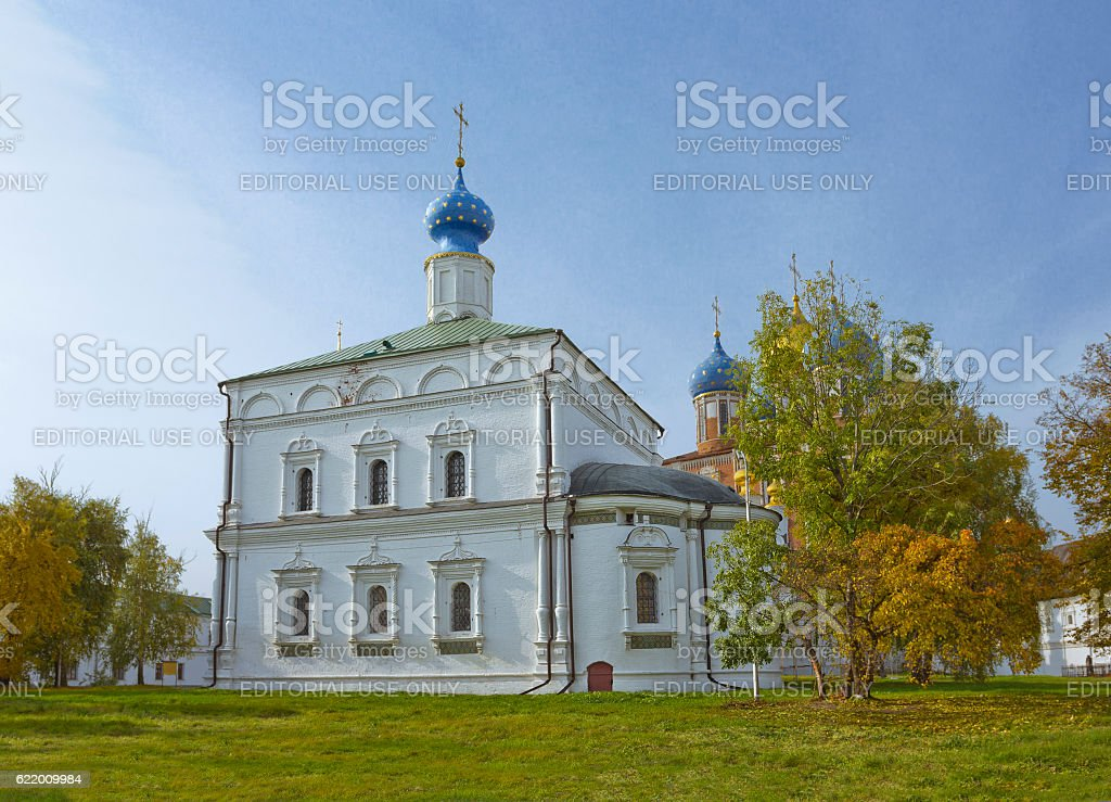 Transfiguration Cathedral in Ryazan kremlin, Russia stock photo