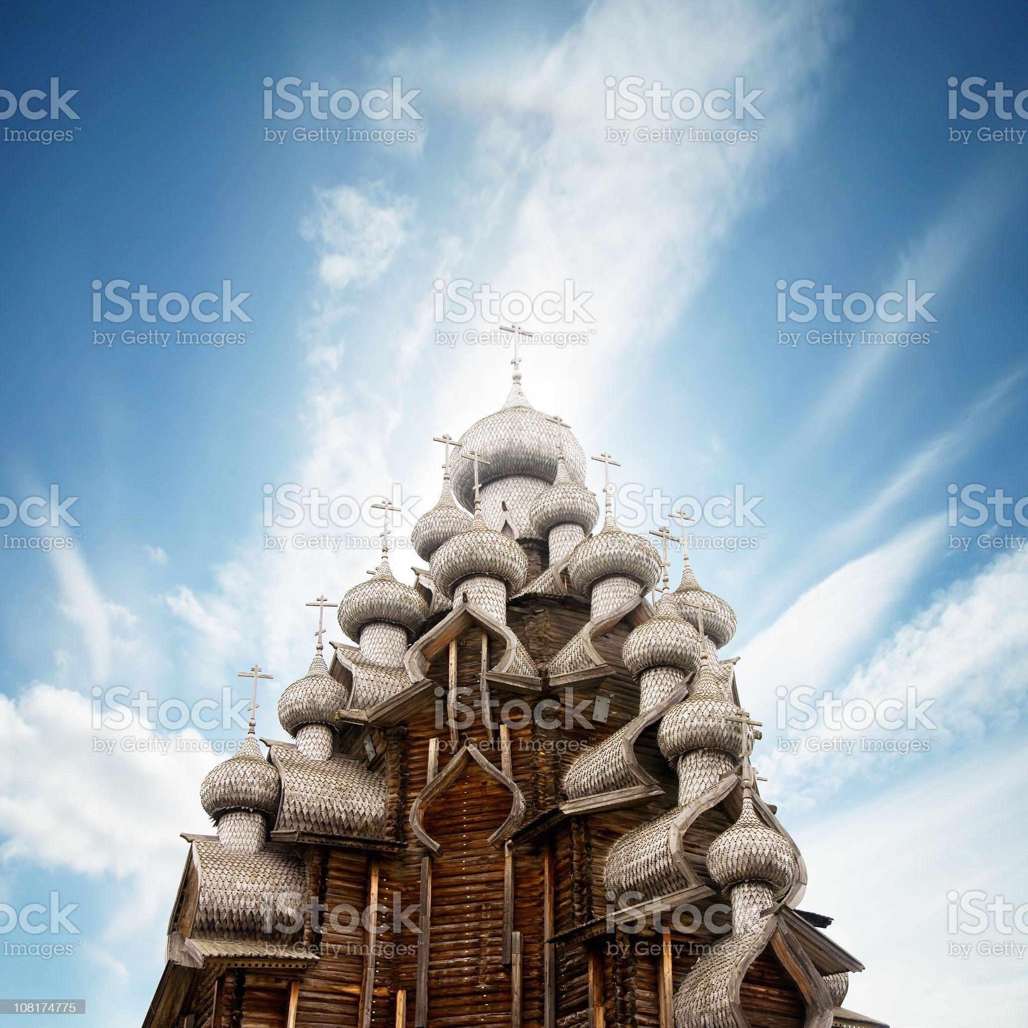 Transfiguration church in Kizhi, russia royalty-free stock photo