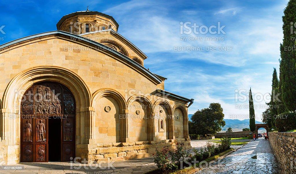 Transfiguration Church. Samtavro Monastery. stock photo