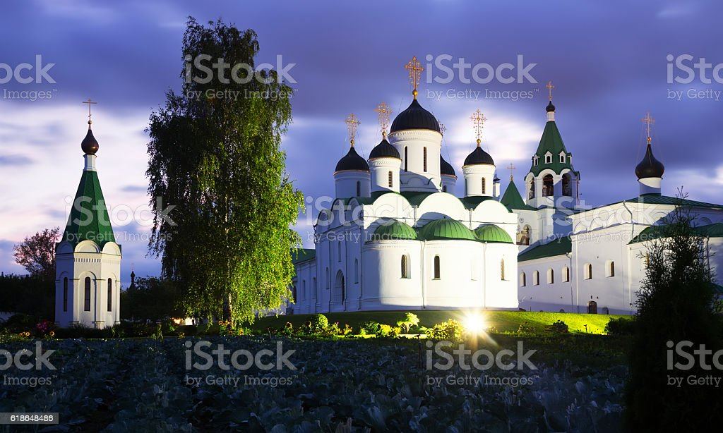 transfiguration monastery in murom stock photo