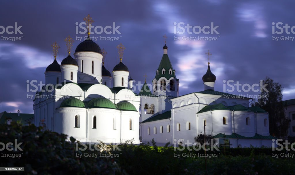transfiguration monastery in murom stock photo