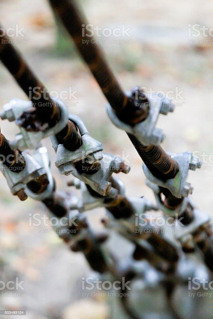 transfix steel bridge cable stock photo