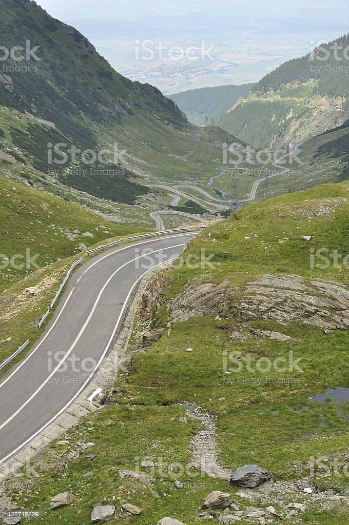 Transfogaras road stock photo