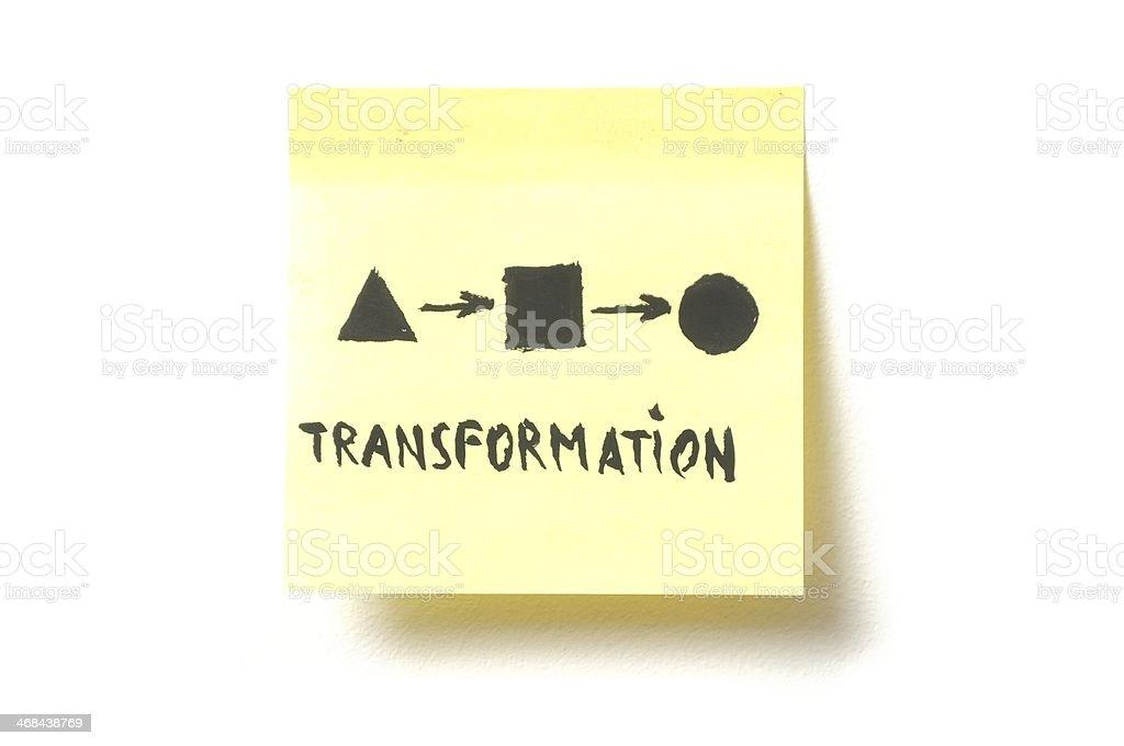 Transformation abstract symbol royalty-free stock photo