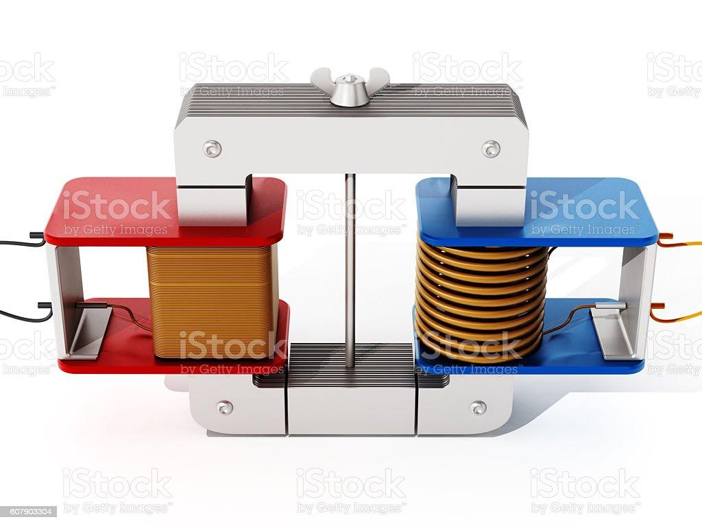Transformator model stock photo