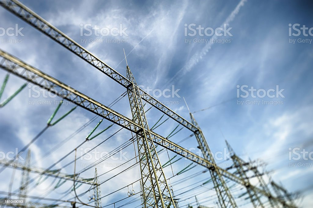 Transformer Station Energiewende royalty-free stock photo