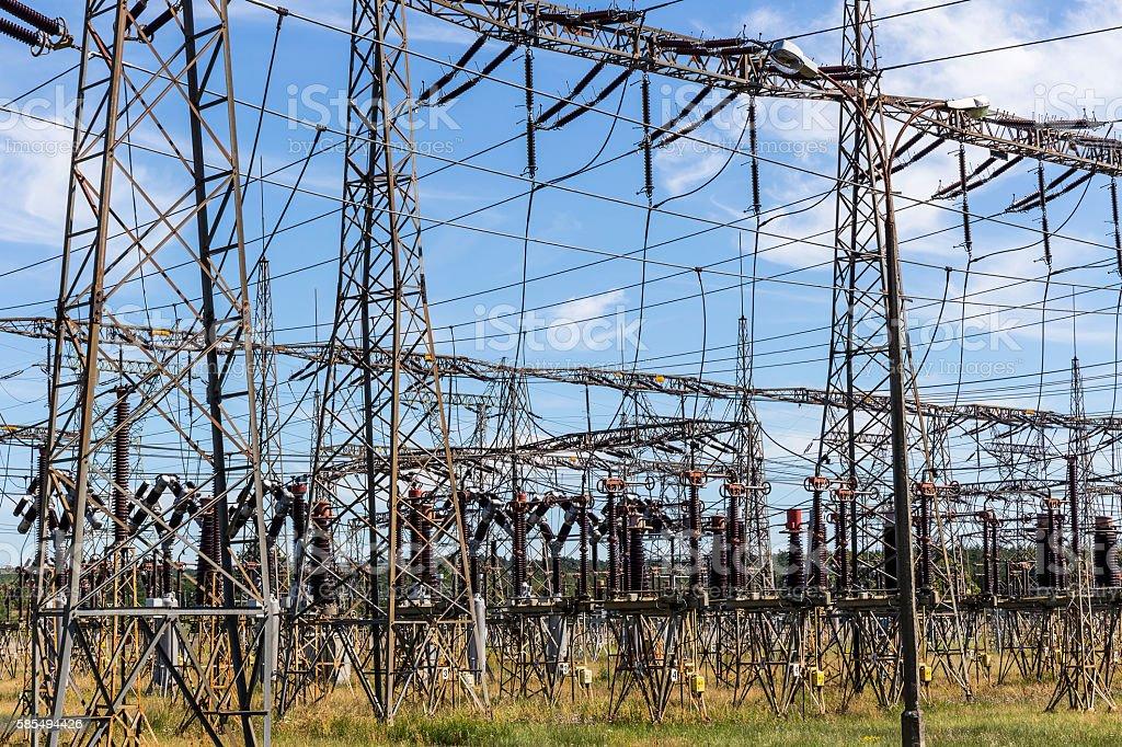 Transformer station in Power Station, Poland stock photo