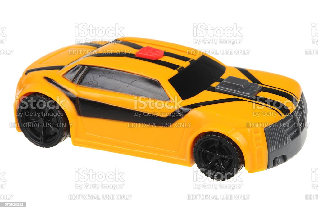 2012 Transformers Prime Bumblebee Happy Meal Toy stock photo