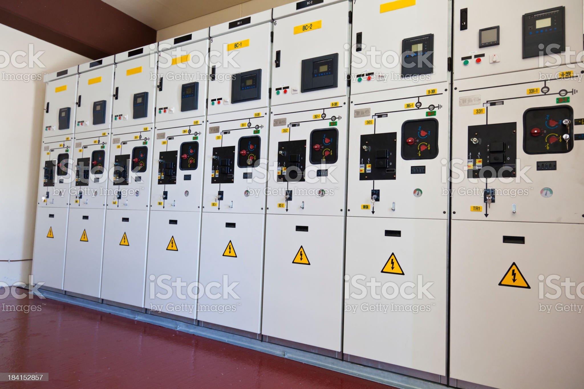 Transforming substation cells royalty-free stock photo