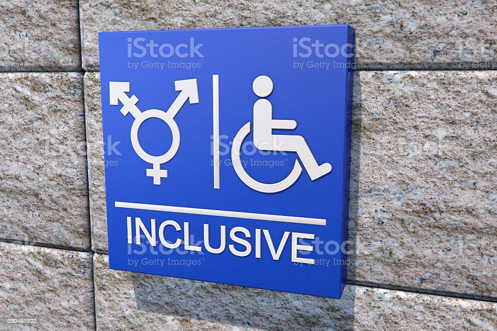 Transgender Restroom Sign stock photo
