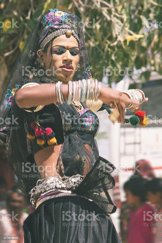 Transgendered Indian Dancer stock photo