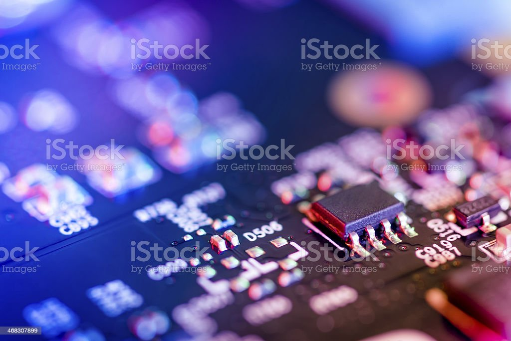 Transistor on Circuit Board royalty-free stock photo