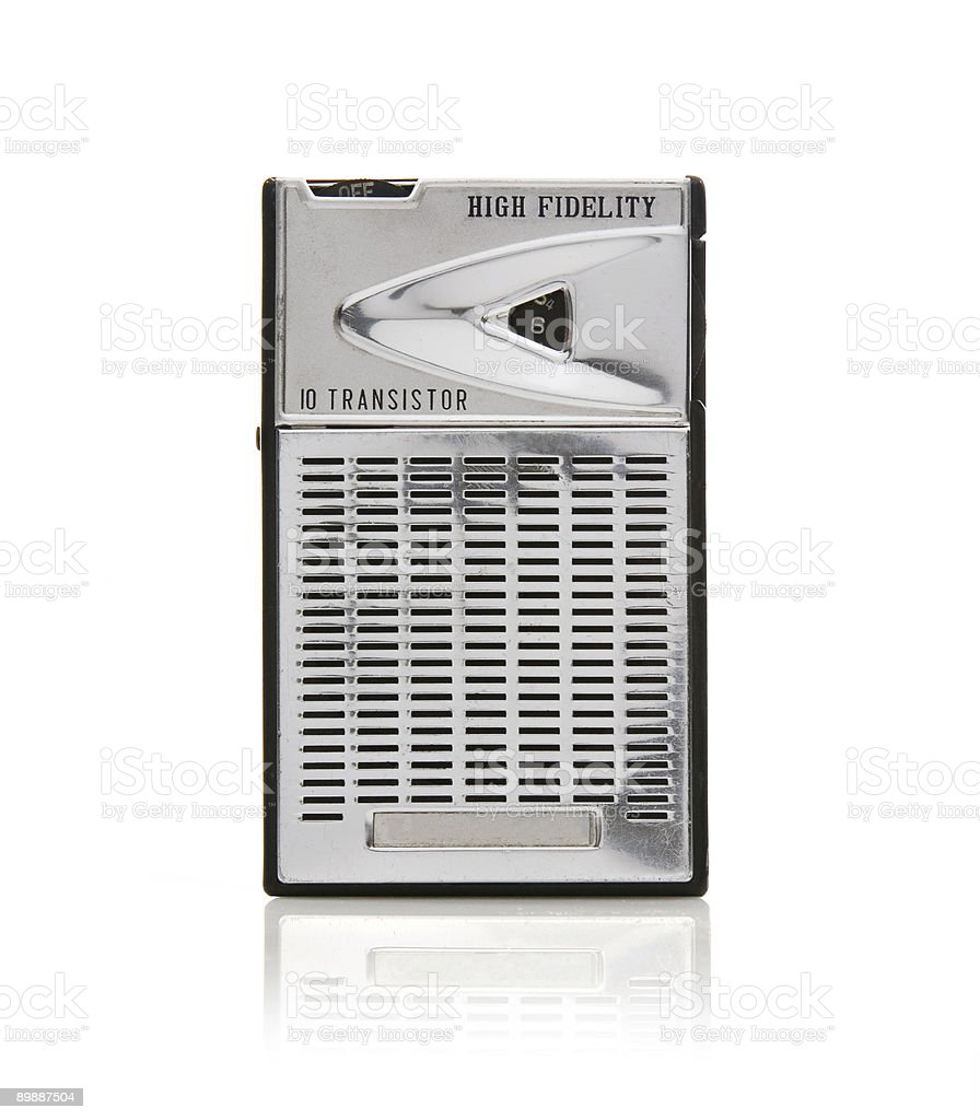 Transistor Radio stock photo