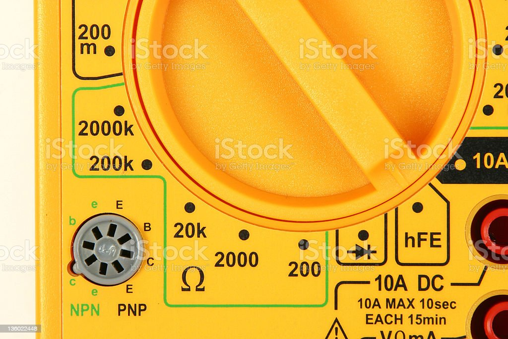 Transistor Tests - Close stock photo
