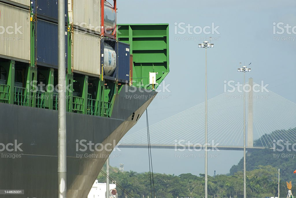 Transit at Panama Canal royalty-free stock photo