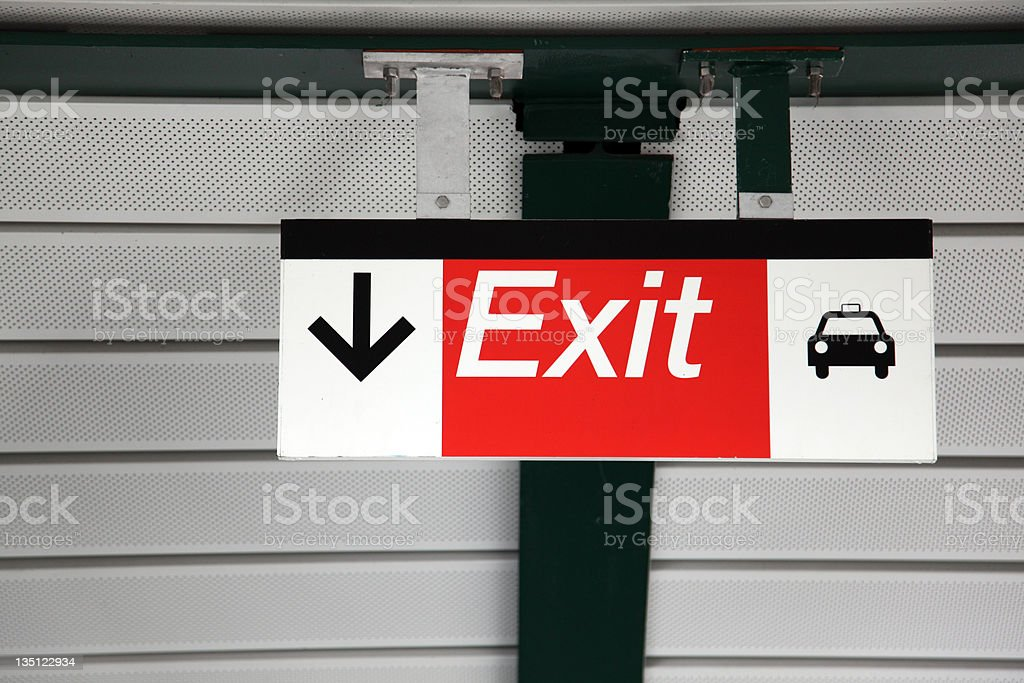 Transit Exit Sign royalty-free stock photo