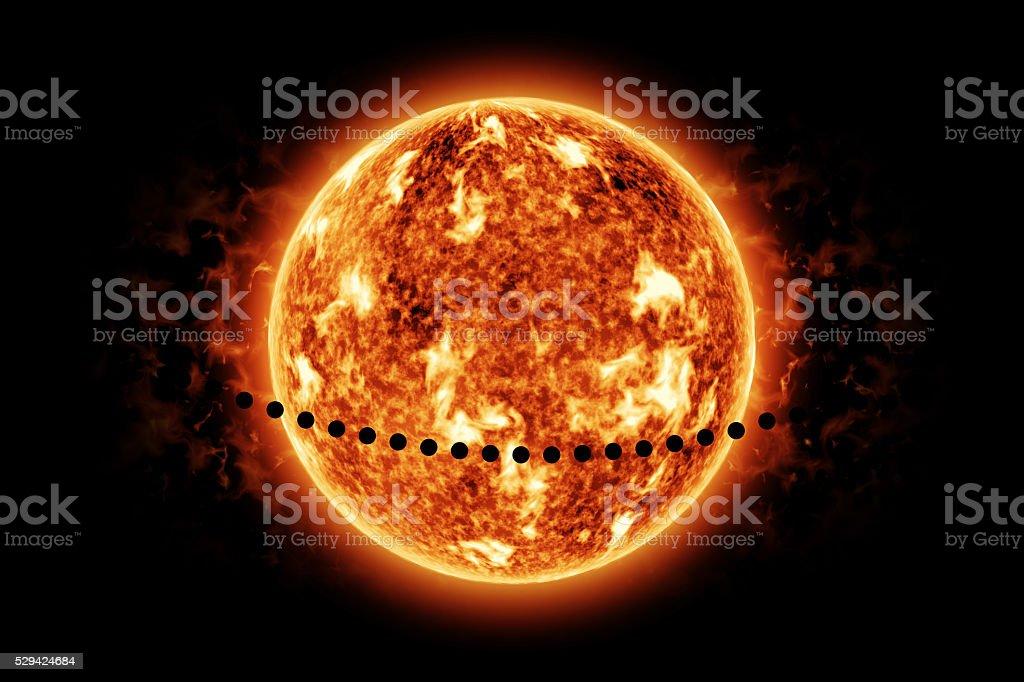 Transit of Mercury Across The Sun stock photo