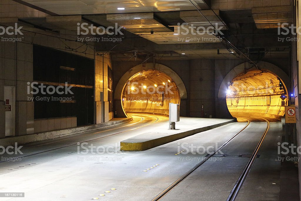 Transit Tunnel stock photo