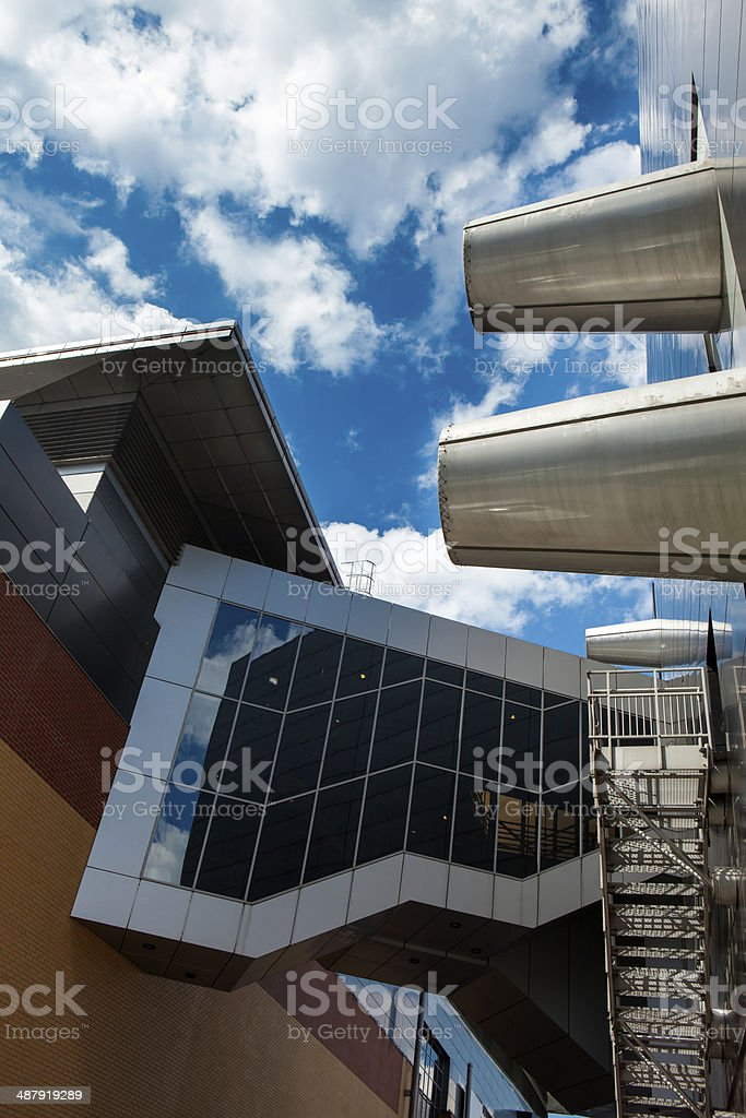 Transition between the modern building stock photo