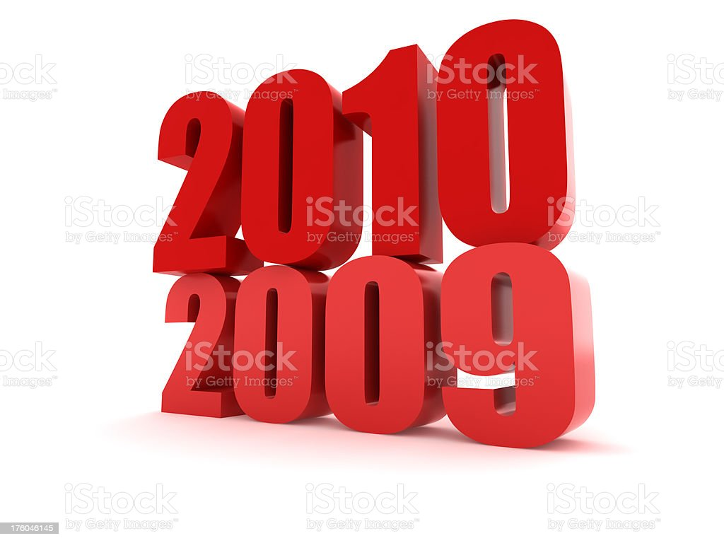 Transition of 2009 to 2010 royalty-free stock photo