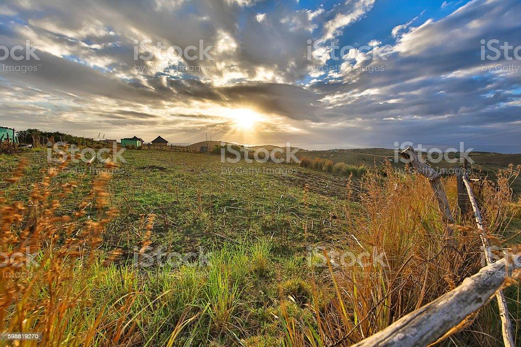 Transkei farm stock photo