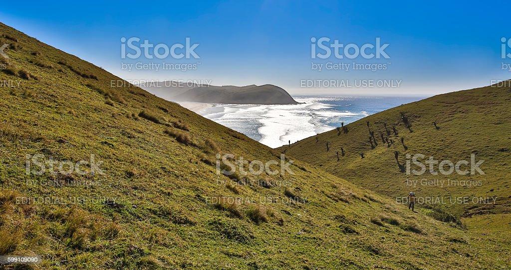 Transkei rolling landscape stock photo