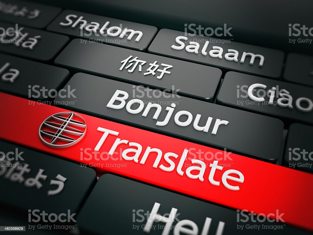 Translate button stock photo