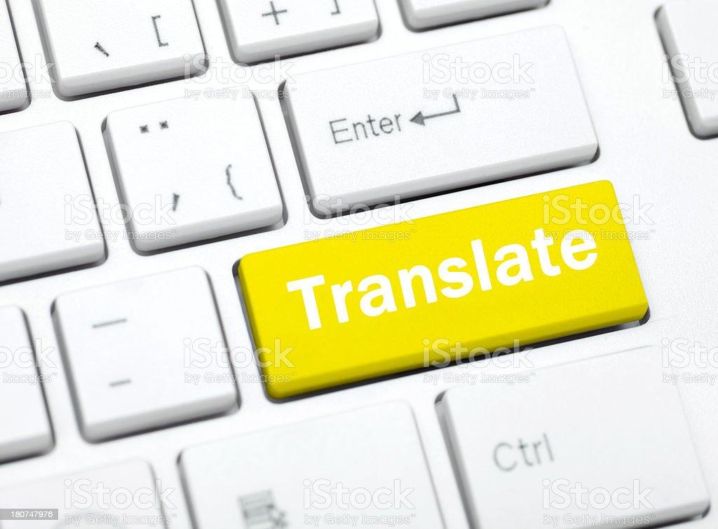 Translate key royalty-free stock photo