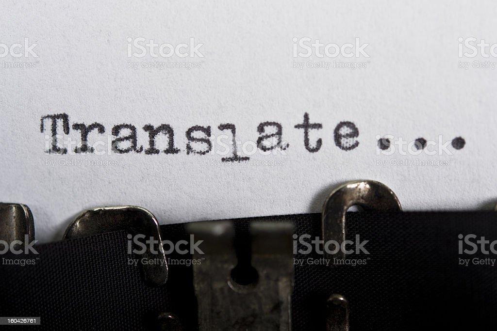 translate stock photo