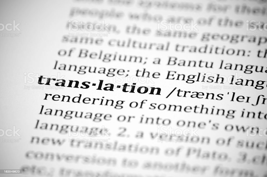 Translation royalty-free stock photo
