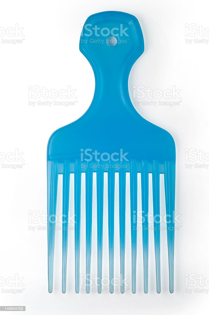 Translucent comb isolated with clipping path royalty-free stock photo